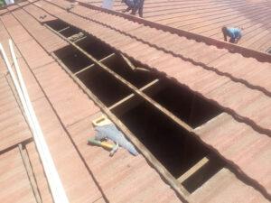 Roof repairs broken timber