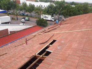 Tile roof repairs - broken timber