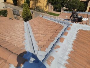 Valley and joints waterproofed with membrane