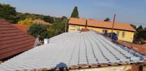 Waterproofing of a low pitch tile roof