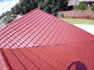 Roof repairs, waterproofing and painting of a tile roof