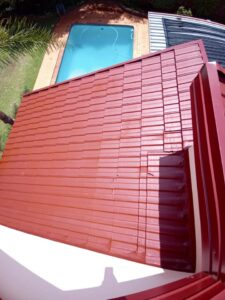 Flashing repaired, waterproof and painted