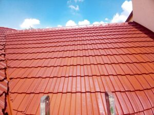 Tile roof waterproofed and painted