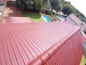 Roof repairs on a tile roof